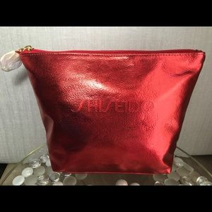 Shiseido Red Makeup Cosmetic Bag
